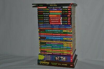 Lot 30 RL Stine Goosebumps Books Most Wanted Hall of Horrors Monster Blood