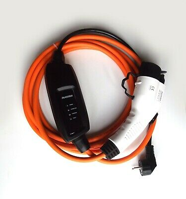 EV Electric Charger for Nissan Leaf, Type 1 (J1772) to EU Plug 5M cable + Case