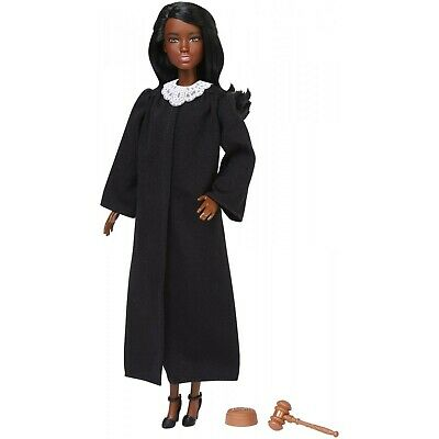 Barbie 2019 Career of the Year JUDGE Doll dark brown Hair Girl Mattel FXP43