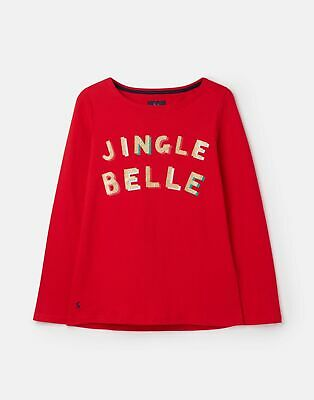 Joules 207173 Harbour Sequin in RED Size 16