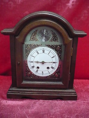 Beautiful, Old Mantel__Pendulum Clock __ Wood __35, 5cm__Tempus Fygit