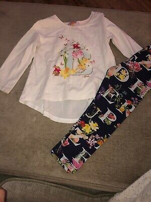 Ted Baker Girls Outfit Top & Leggings Set 2-3 Years