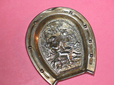 Victorian Cherub Silver Pin Tray ~ Hand Made ~ Horse Shoe Frame