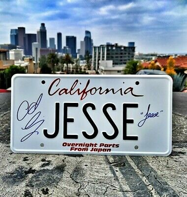 "Fast & Furious ""Jesse"" License Plate -- Overnight Parts from Japan -- SIGNED"