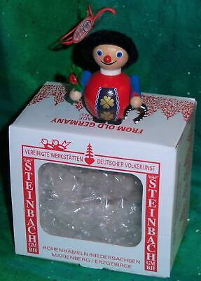New Hand Made Germany Steinbach Good Luck Lucky Boy Wooden Christmas Ornament