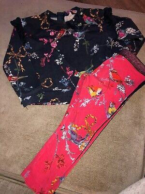Ted Baker Girls Outfit Leggings And Top Set Age 2-3