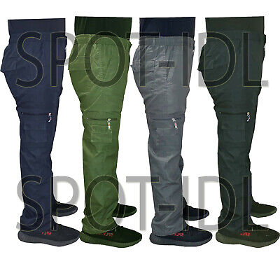 Mens New Elasticated Cargo Combat Lightweight Work Cotton Trousers Pants Bottoms