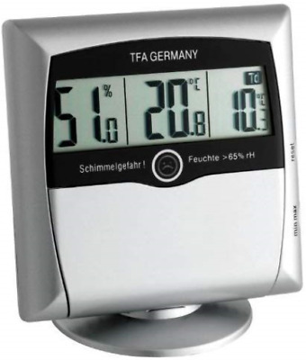 Digital thermo-hygrometer with MOULD Alarm COMFORT CONTROL - silver 30.5011.54