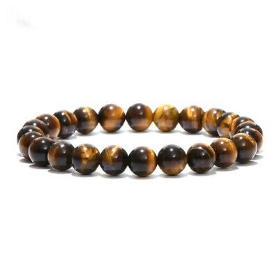 Fashion 8mm Natural African Roar Natural Tiger Eye stone Round Beads Bracelets p