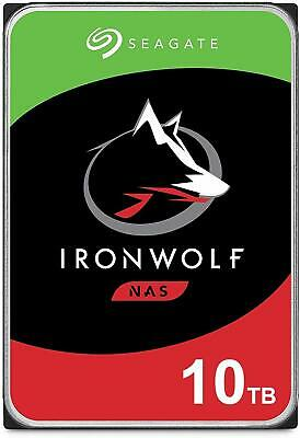 "Seagate 10TB IronWolf NAS HDD SATA 3.5"" Internal Hard Drive 7200RPM 256 Cache"