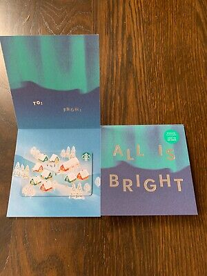 """Canada Series Starbucks """"ALL IS BRIGHT 2019"""" Gift Card - New No Value"""