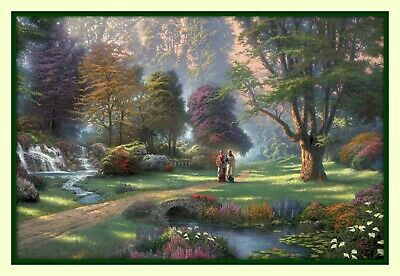 Thomas Kinkade Walk of Faith Jesus  Christ 11x14 Dbl Matted 8x12 Art Print Peter