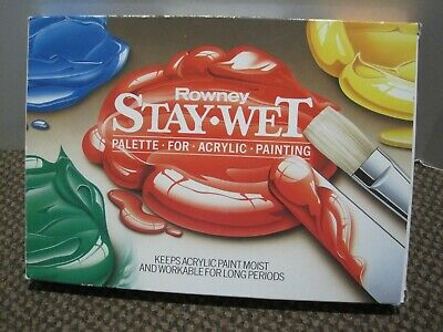 Daler Rowney Stay Wet Artist Palette for Acrylic Painting,Paints unused, !!!