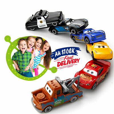 6Pcs Pixar Cars toy 3 Lightning XMAS toy Racer Diecast Collection Set
