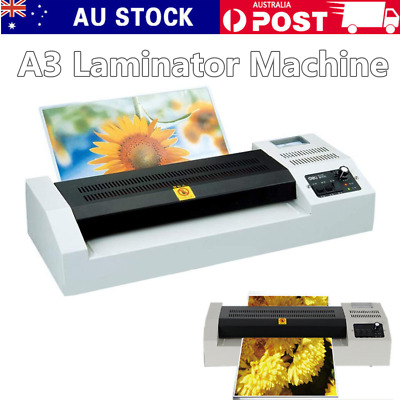 A3 Thermal Laminator Laminating Plastic Cold Hot Mounted Roller Pouch Menu