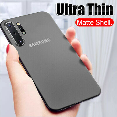 Ultra Thin Case For Samsung Note 10 Plus S10 S9 S8 Matte Clear Hard Skin Cover
