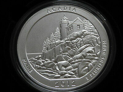 2012 Acadia Maine 5oz Silver ATB Specimen ~With Box & Papers!