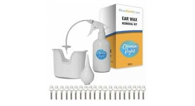 Cleanse Right Ear Wax Removal Kit- 20 Disposable Tips with Wash Basin & Syringe