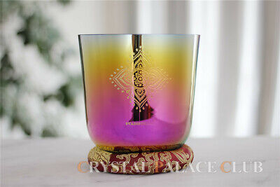 """Sun Flower Crystal Singing Bowl In Grail Note G 4th 5.25"""""""