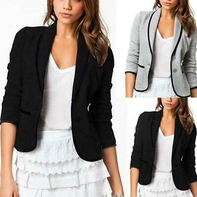 Girls Suit Solid Coat Slim Long Sleeve Casual Button Blazer V-Neck Jack I8H8