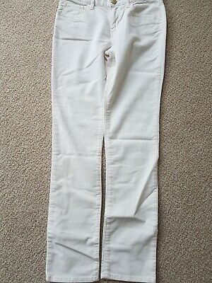 Girls Cords, 10-11 ivory , Cotton with Stretch, Straight Leg, Gap