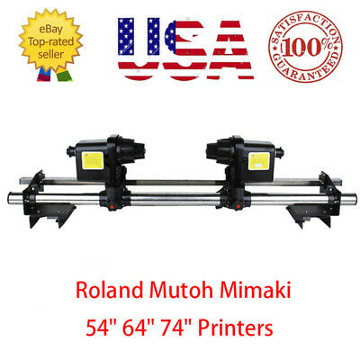 "54"" Auto Media Take up Reel System for Epson Roland Mimaki Mutoh+Two Motor USA"