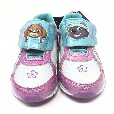 Nickelodeon Paw Patrol Girls Size 11 Light Up Shoes Sneakers Skye Everest