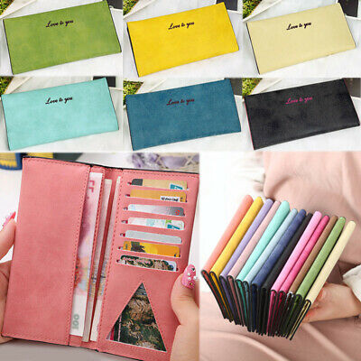 Fashion Women Leather Bifold Wallet Card Holders Purse Lady Long Clutch Handbag