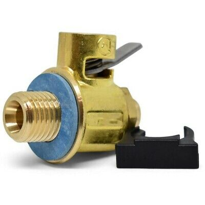 F108S S-Series Short Nipple Oil Drain Valve with Lever Clip 16mm-1.5 M7A6