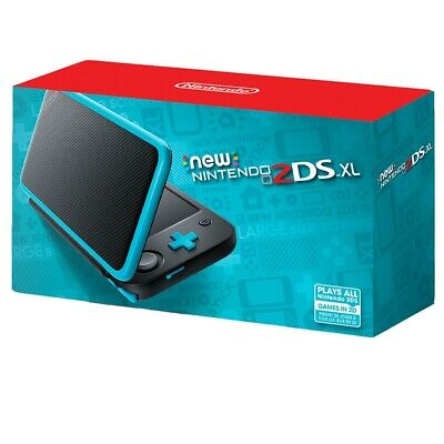 New Nintendo 2DS XL - Black + Turquoise. Free Expedited Shipping.