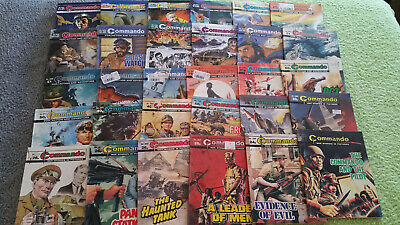 BULK LOT of 30 COMMANDO COMICS - War Stories in Pictures FREE POSTAGE 1610-4584
