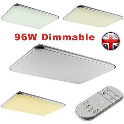 96W Dimmable Bright LED Ceiling Down Light Panel Wall Kitchen Bathroom Lamp