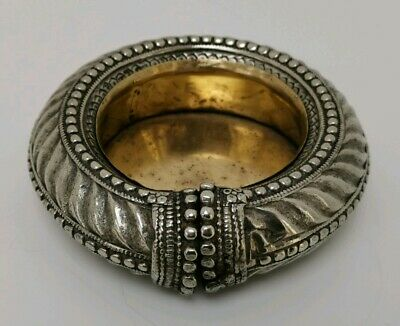 Vintage Eastern African White Metal Silver Tribal Slave Bangle Bowl Ashtray