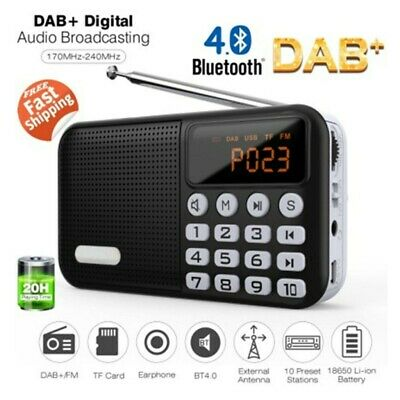 DAB DAB+ Digital Radio Portable FM Rechargeable Bluetooth Speaker with USB Cable