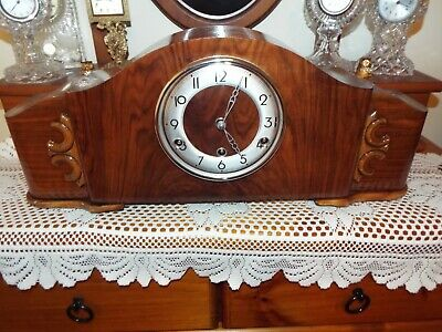 a stunning restored full quarter perivale mantle clock Westminster chime