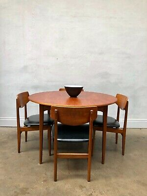 Vintage 1960s Nathan Danish Teak Dining Table & Chairs. G Plan Retro Mid Century