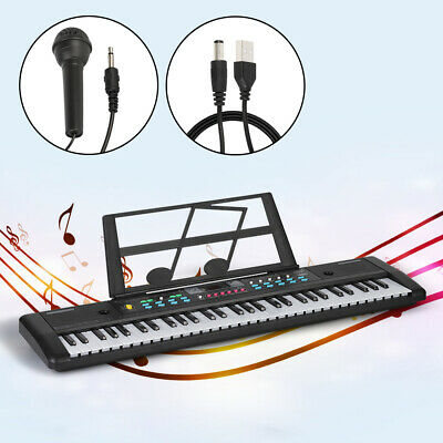 61 Keys Electronic Keyboard Organ Digital Piano With Microphone Music Stand