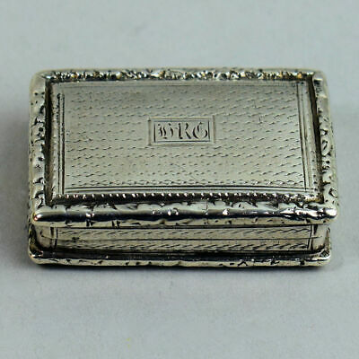 Antique Georgian Silver Vinaigrette John Bettridge Birmingham 1825