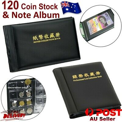 Coin Stock Holder Money Bank Note Collection Album Stock Currency Holder Pocket