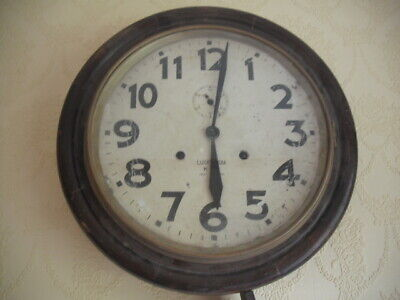 Antique  Wall Clock, School / Station, Round, 16 Inch made in japan
