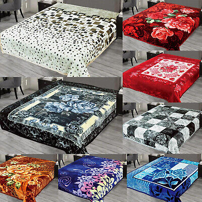 2 Ply Heavy Blanket Soft Thick & Warm Bed Throw Double Sided 200 cm X 240 cm New