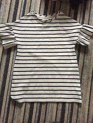 Girls next stripe top, interesting sleeves, age 5 but oversized so would fit big