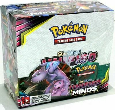 Pokemon TCG Sun & Moon Unified Minds Booster Case 6 Booster Boxes Sealed SPECIAL