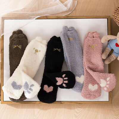 Home Women Girl Soft Bed Floor Socks Fluffy Warm Winter Socks 18Colors Available