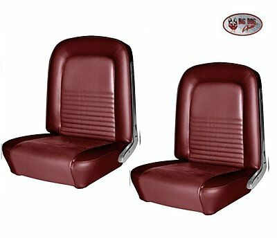 1967 Mustang Convertible Front & Rear Seat Upholstery - Red Metallic by TMI