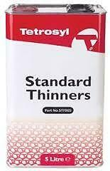 2 x Tetrosyl Standard Cellulose Thinners 5L