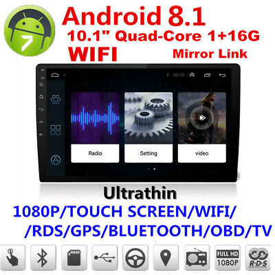 10.1''Car Android Bluetooth Stereo Radio Double 2 DIN Player GPS Wifi GOOGLE IGO