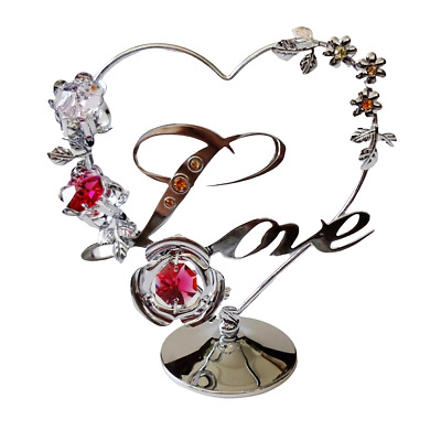 Crystal Crystocraft Love Heart Ornament With Swarovski Elements (with Box)