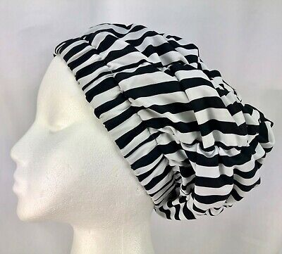 Shower Cap by JaneIncProducts Black and White Striped