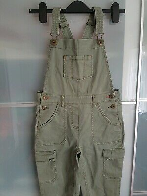 Johnnie B / Mini Boden Girls 9 - 10 Long Dungarees in Green